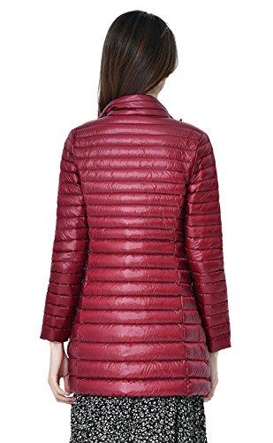 Media Calentar Abajo Rojo Packable Mujeres Chaqueta Capa Soporte Del Collar Longitud Disponibles Santimon 8 Las Ligero De Vino Abajo Colores qtwC4X