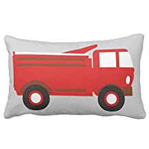 Cute Boy'S , Red Firetruck W/ Name Fine Abstract Cool Cute Girly Nature Fashion Home Throw Pillow Case Pillow Case Covers Decorative Cover For Sofa 30X20 Inches