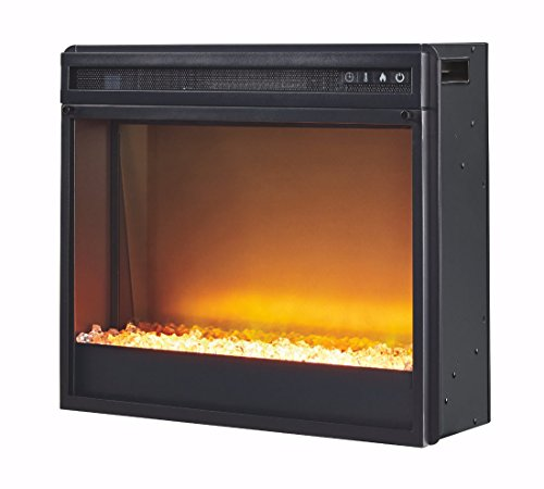 Ashley Furniture Signature Design - Medium Electric Fireplace Insert - Includes Insert Only - TV Stand Sold Separately - Black