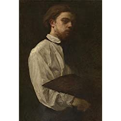 Oil Painting 'Henri Fantin-Latour - Self Portrait,19th Century', 18 x 26 inch / 46 x 67 cm , on High Definition HD canvas prints is for Gifts And Bar, Kitchen And Laundry Room Decoration