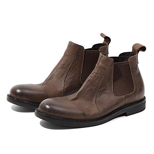 Retro - martin stiefel, chelsea Stiefel, hohe stiefel und kurze stiefel, klassischen retro - englisch kurz - stiefel,Braun,43