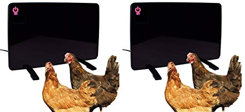 Cozy Products Safe Chicken Coop Pet Heater 200W Flat Panel Technology, One Size, Black (Pack of 2)