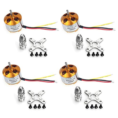 FairOnly 4Pcs A2212 1000KV Brushless Outrunner Motor 13T for DIY RC Aircraft Multirotor Quadcopter Drone FPV F02015-4 Show