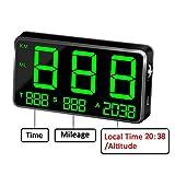 kingneed Original Universal GPS Head Up Display Speedometer Odometer Car Digital Speed Display MPH Over Speeding Alarm Car Clock for All Vehicles C60/C60S/C80/C90 (C80-1)