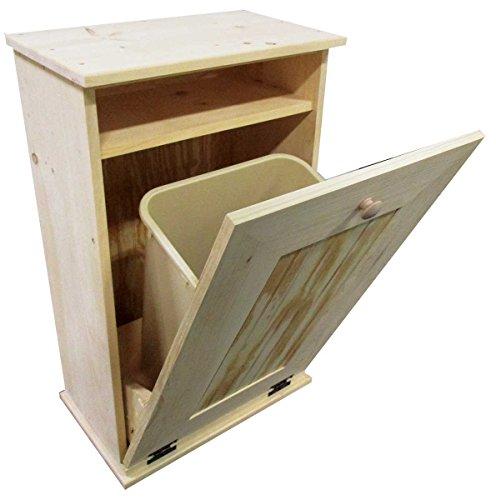 - Sawdust City Tilt-Out Wooden Trash Bin Holder (Unfinished)