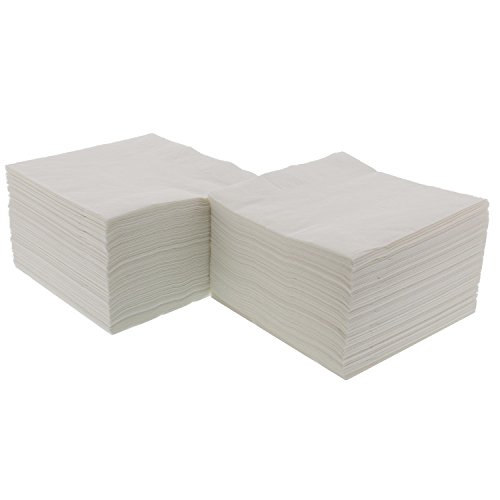 Royal White Beverage Napkin, Package of 1000 by Royal (Image #1)