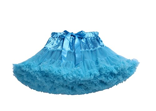 [PerfectDay Girl's Dress Up Fairy Princess Party Tutu Skirts Blue] (Homemade Princess Costumes For Kids)