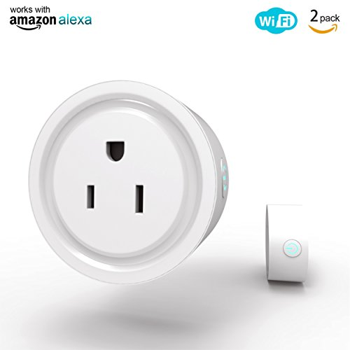 Nuegals WiFi Smart Plug, Mini Wireless Smart Socket Outlet Compatible with Alexa and Google Home, USB Port, Timing Function, Remote Control Your Devices Anywhere, No Hub Required (US Plug, 2 Pack)