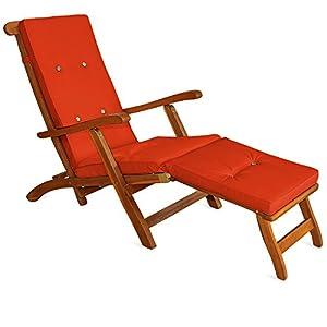 Sun lounger cushions pads waterproof steamer recliner ...