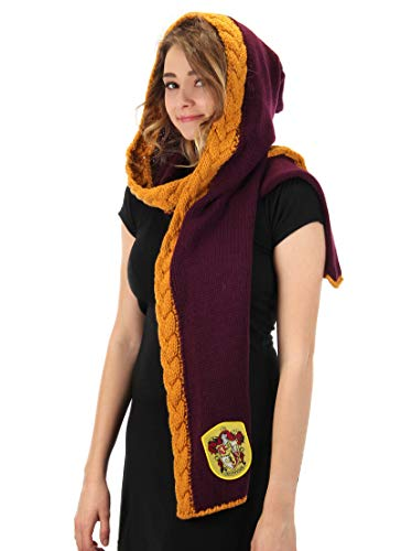 elope Harry Potter Gryffindor Knit Hooded Scarf Red]()