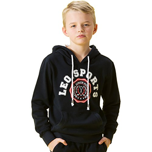 Leo&Lily Big Boys' Kids Heavy Fleece Tracksuit 2 Piece Set Pullover 12 Navy