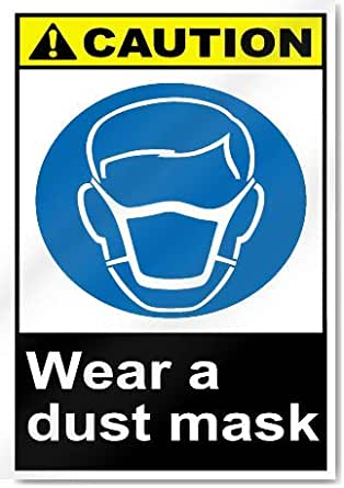 Wear dust masks COUN0078 Stickers /& Signs