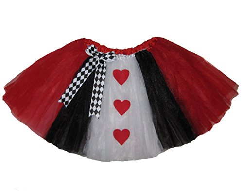 Southern Wrag Company Adult Long Queen Of hearts Tutu (S:Tutu Waist 30-54)