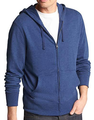(GAP Mens 848476 Soft Fleece Full Zip Hoodie Sweater Colonial Heather Blue (XX-Large))