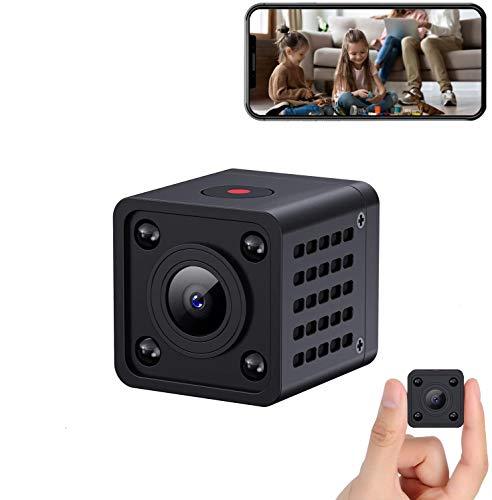1080P Nanny Cams Wireless Spy Camera WiFi Hidden Camera with Audio Live Feed Tiny Home Security Camera Indoor Camera…