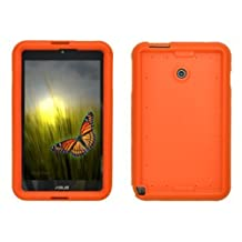 Bobj Rugged Case for ASUS VivoTab Note 8 M80TA - BobjGear Protective Tablet Cover - (Outrageous Orange)