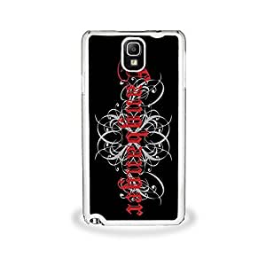 Fangbanger them - Samsung Galaxy Note This 3, Cell Phone Cover - White needs Case SALE building