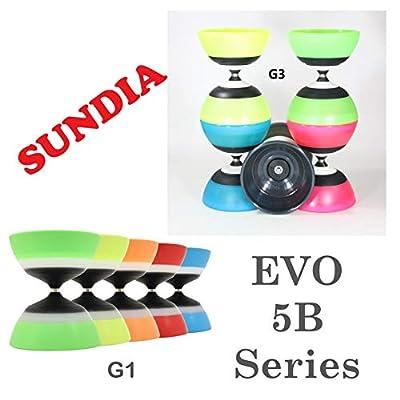 Sundia Evo 5B Diabolo Series - 5 Bearing - G3 (G3 Green): Toys & Games