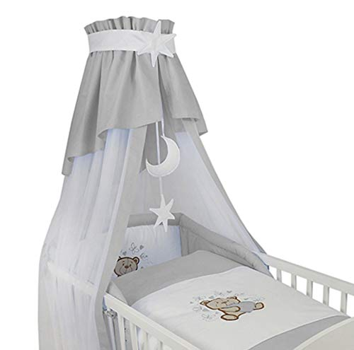 Babybettausstattung Grau Baby Bettw/äsche Bettgarrnitur