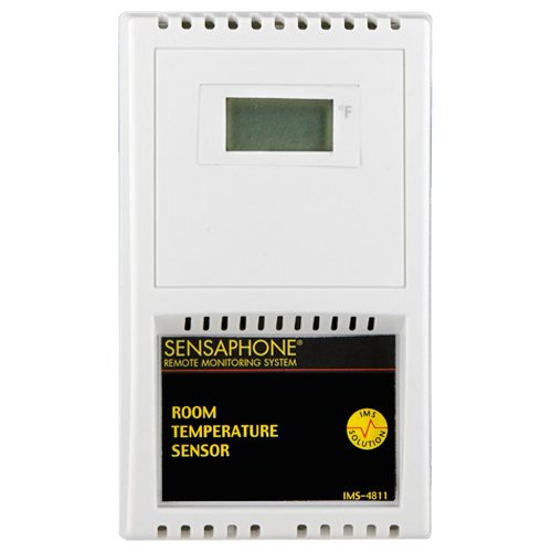 Sensaphone Room Temperature Sensor with LCD Readout, Farenheit (IMS-4811)