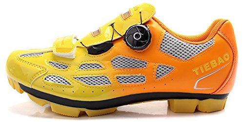 Tiebao Radfahren Schuhe Off Road Zapatillas Deportivas Turnschuhe Orange