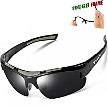 FLEX – Polarized Sports Sunglasses for Men or Women, Tough TR90 Frame and 100% UV protection, Sports Sunglasses for Driving Ski Cycling Fishing Running Baseball Golf Biking and other Outdoor Activities.