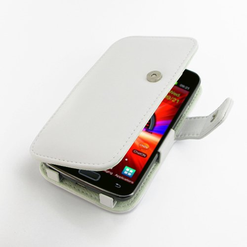 PDAIR B41 White Leather Case for Samsung Galaxy S II LTE ...