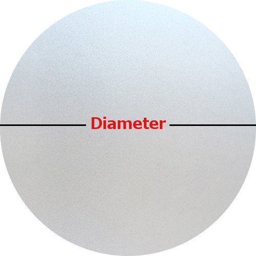 Precut Frosted Privacy Circle Window Film, Self Static Adhesive Cling, 30 inches diameter