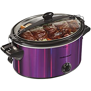 Hamilton Beach 33454 Shimmer Finish Slow Cooker, Purple, 5 quart