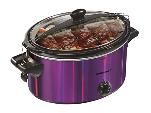 Hamilton Beach 33454 Shimmer Finish Slow Cooker, Purple, 5 q