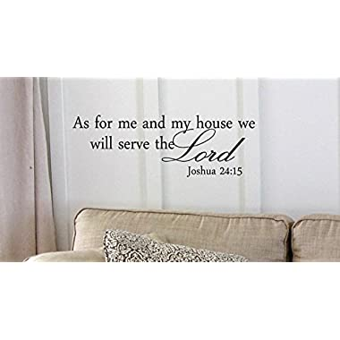 Red 8'' X 20'' Decalgeek As for me and my house, we will serve the Lord Vinyl wall art Inspirational quotes and saying home decor decal sticker steamss