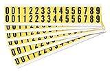 Numbers Label Kit, 0 Thru 9, 25 Cards, PK25
