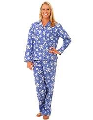 Del Rossa Women's 100% Cotton Flannel Pajama Set