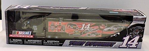 2016 Tony Stewart #14 Mobil 1 Bass Pro Champion Tribute Stewart Haas Motorsports 1/64 1:64 Scale Diecast Hauler Trailer Truck Tractor Semi Rig Transporter NASCAR Authentics (Bass Pro Shops Marine)