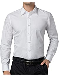 Amazon.com: White - Casual Button-Down Shirts / Shirts: Clothing ...