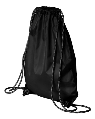 Liberty Bags LB8881 Small Nylon Drawstring Backpack BLACK