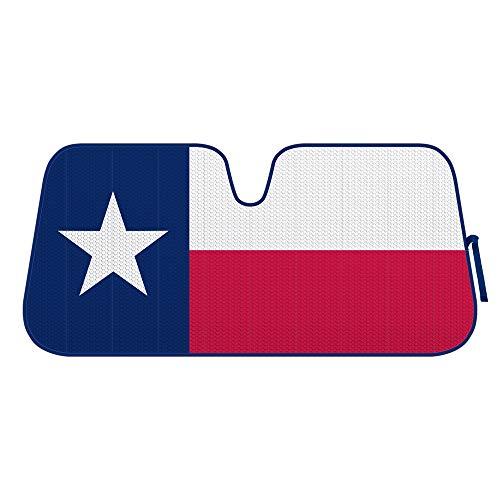 BDK Texas Flag - Front Windshield Sun Shade-Accordion Folding Auto Sunshade for Car Truck SUV-Blocks UV Rays Sun Visor Protector-Keep Your Vehicle Cool- 58 x 27 Inch