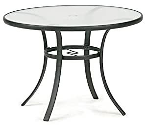 essential garden bartlett round dining table seats 4 glass top 40 inch diameter. Black Bedroom Furniture Sets. Home Design Ideas