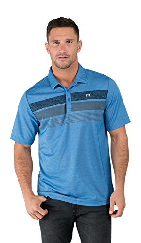 Travis Mathew TravisMathew Men's Greg Eddie Standard Blue/Dusk Blue Shirt