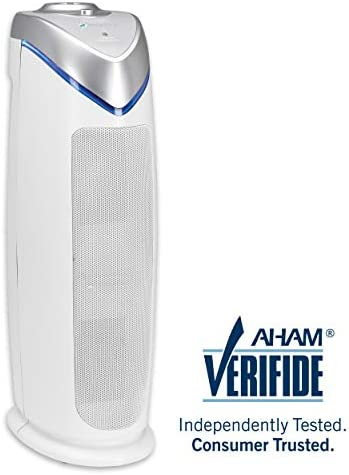 Germ Guardian Air Purifier for Home, True HEPA Filter for Allergies, Pollen, Smoke, Dust, Pet Dander, UV-C Sanitizer Eliminates Germs, Mold, Odors, Quiet for Office, Bedrooms, 22 3-in-1 AC4825W