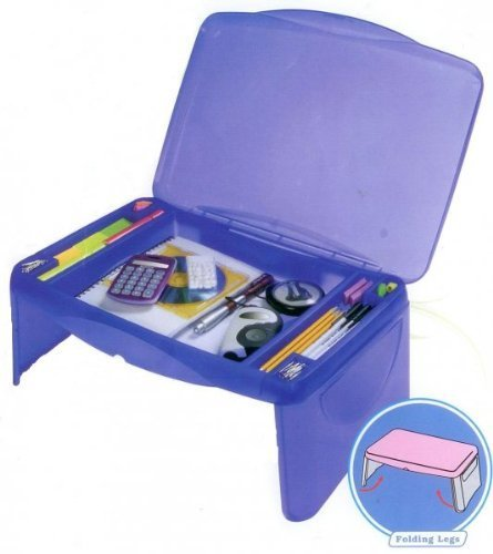 Storage Folding Lap Desk (Frosted Blue) (2.5'H x 17.5'W x 13'D)