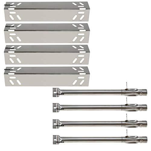 Hisencn Replacement Stainless Steel Burners & Heat Plate Flame Tamer Burner Cover Repair Kit for Kenmore 119.16240, 119.16433010, 119.16434010, 119.16658010 Gas Grill Models ()