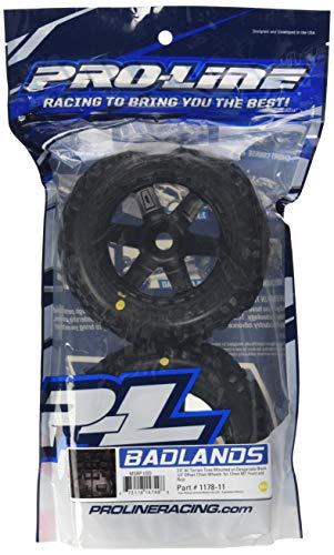 "Proline 117811 Badlands 3.8"" All Terrain Tire Mounted on Desperado Black Wheels"
