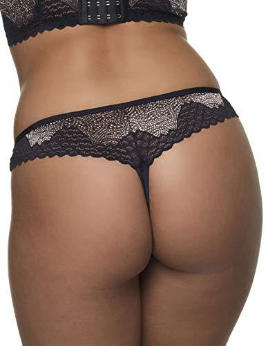 Black Thong Women's Tale gold Panty 35 After 10 Eden t Lace 462 T 6054 gSfSa6