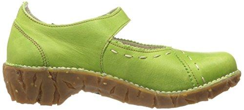 N095 Cuero El Naturalista Mujer Merceditas Verde de Green qxfvAI5f