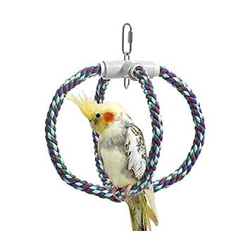 Amazon.com: Karlie Swing corona de algodón, pájaros, jaulas ...
