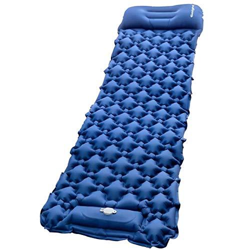 tomight Isomat camping, ultralichte isomat met ingebouwde luchtpomp en kussens, luchtmatras camping 2 meter voor…