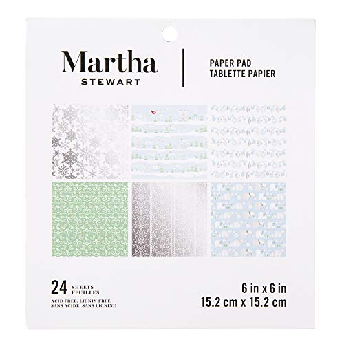 Martha Stewart 30068360 Snowflake 6x6 Paper Pad, 6 x 6 inches, Multicolor
