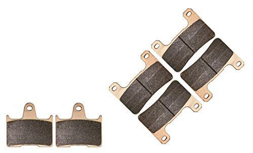CNBK Sintering HH Brake Shoe Pads Set for SUZUKI Street Bike GSX-R600 GSXR600 GSXR GSX R GSX-R 600 cc 600cc K4 K5 2004 2005 04 05 6 Pads (Gsxr Street Bike)