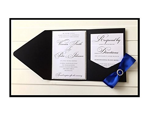 amazon com pocketfold wedding invitations pocket fold invitation